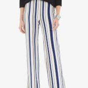 Chico's Ponte Moroccan Stripe Wide Leg Pants